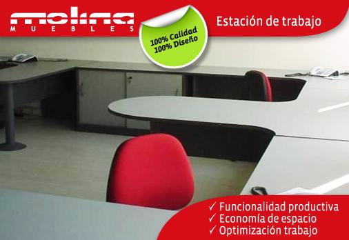 Estaciones de trabajo molina muebles for Estacion de trabajo