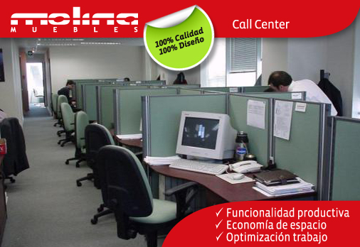 Call center molina muebles for Muebles para call center